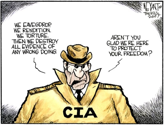 Image result for CIA Whistleblower CARTOON